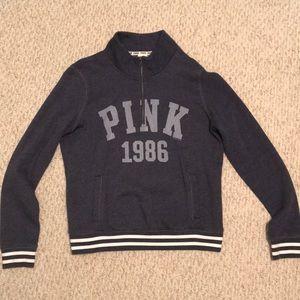 PINK Victoria's Secret Tops - Victoria's Secret PINK half zip